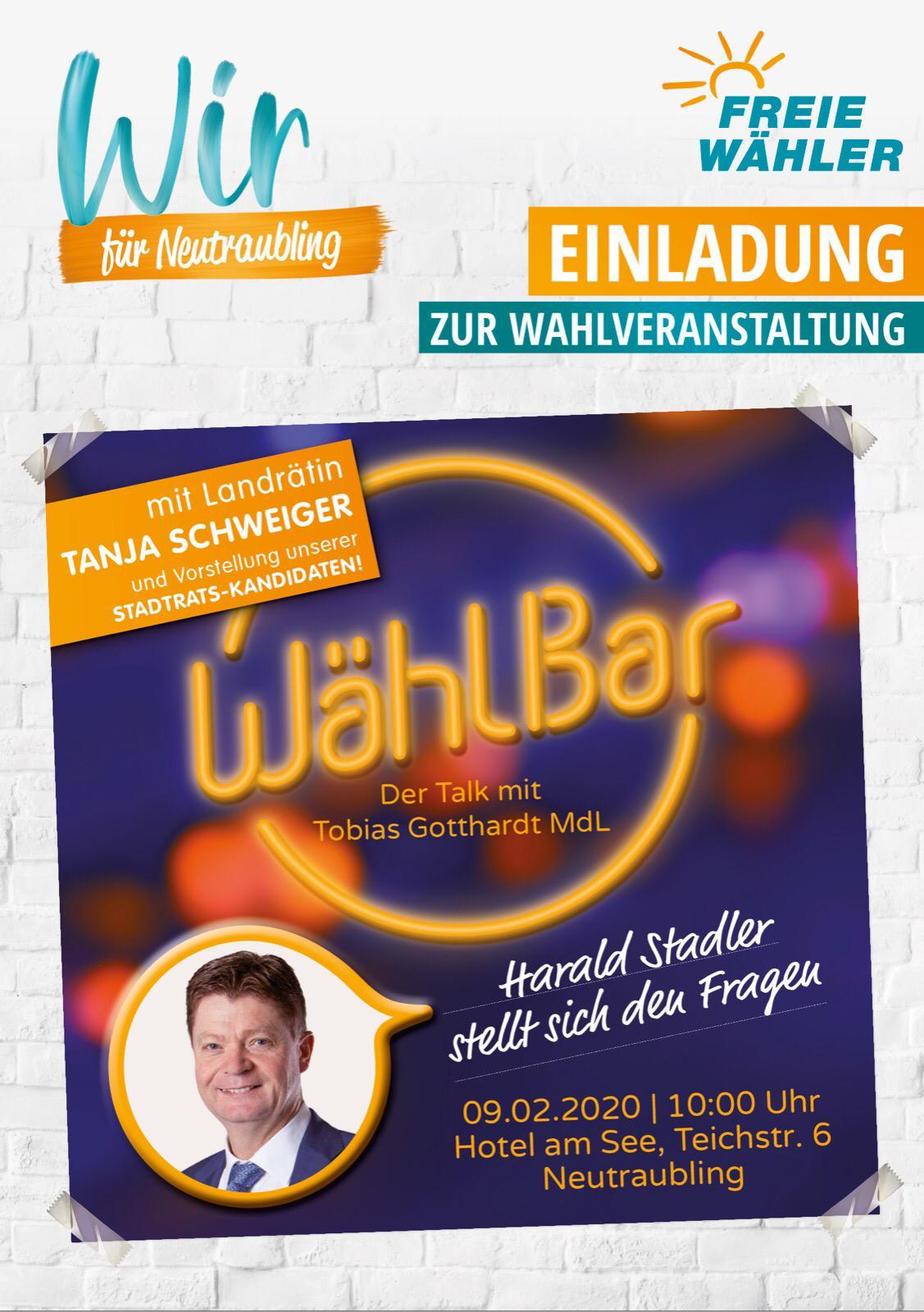 Herzliche Einladung zur WählBar!