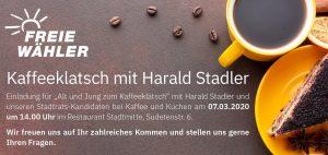 Kaffeeklatsch mit Harald Stadler
